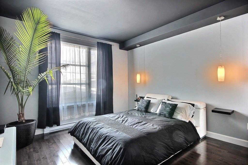 Chambre à coucher d'une maison neuve  Construction ABG